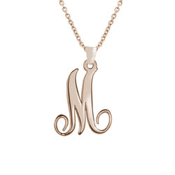 18ct Rose Gold Plated One Initial Necklace product photo