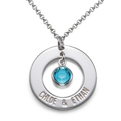 Sterling Silver Engraved Couples Necklace product photo
