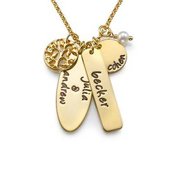 18ct Gold Plated Family Tree Jewellery product photo