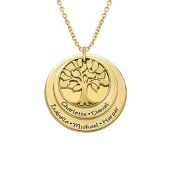 Layered Family Tree Necklace with Gold Plating product photo