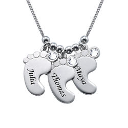 Mom Jewelry - Baby Feet Necklace in 940 Premium Silver product photo