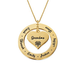 10ct Gold Grandmother Necklace product photo