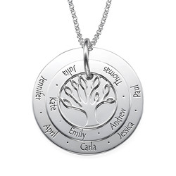 Personalised Mum Jewellery - Family Tree Necklace product photo