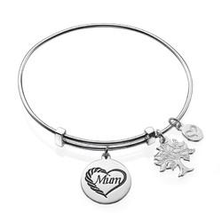 Mum Charm Bangle Bracelet product photo