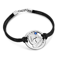Cut Out Baby Feet Bracelet in Silver product photo
