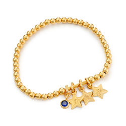 Having a Ball Bracelet with Custom Charms in Gold Plating product photo