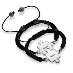 Best Friends Puzzle Bracelet in Silver product photo
