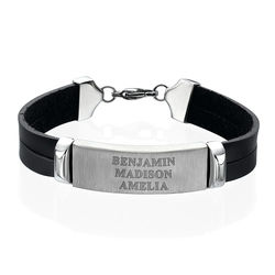 Personalised Leather Bracelet for Men product photo