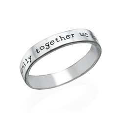 Engraved Name Ring - Hand Stamped Style product photo
