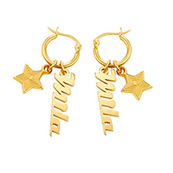Siena Drop Name Earrings in 18ct Gold Plating product photo