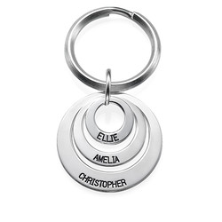 Gift for Mum - Three Disc Engraved Keyring product photo