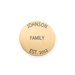 Floating Locket Plate - Disc with Engraving product photo