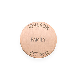 Floating Locket Plate - Rose Gold Plated Disc with Engraving product photo