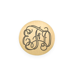 Floating Locket Plate - Disc with Monogram product photo