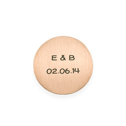 Floating Locket Plate - Engraved Disc with Initials product photo