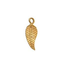Leaf Charm in Gold Vermeil for Linda Necklace product photo
