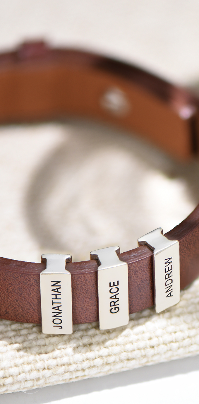 personalised men bracelets