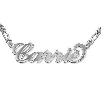 """Doppelstarke 925 Silber """"Carrie"""" Namenskette"""