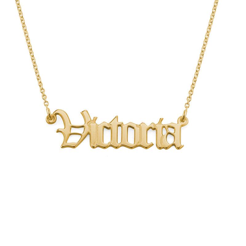Altenglische Namenskette aus Silber mit 750er-Gold-Beschichtung - 2