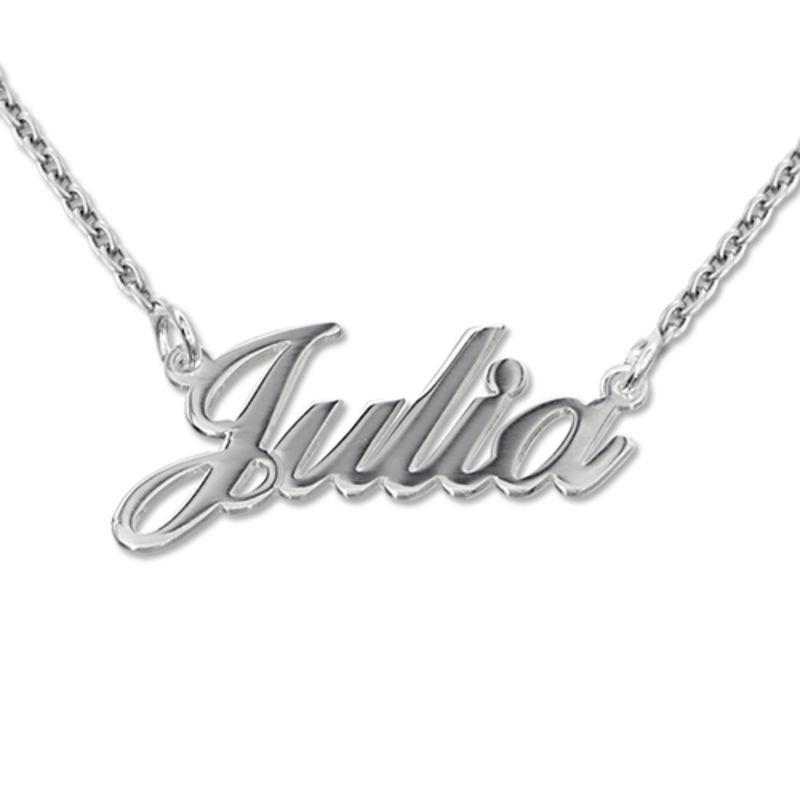 Kleine 925er Silber Namenskette in Druckschrift- Klassik