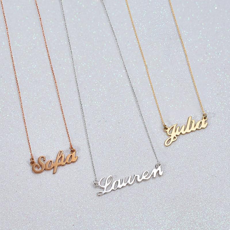 Kleine 925er Silber Namenskette in Druckschrift- Klassik - 3