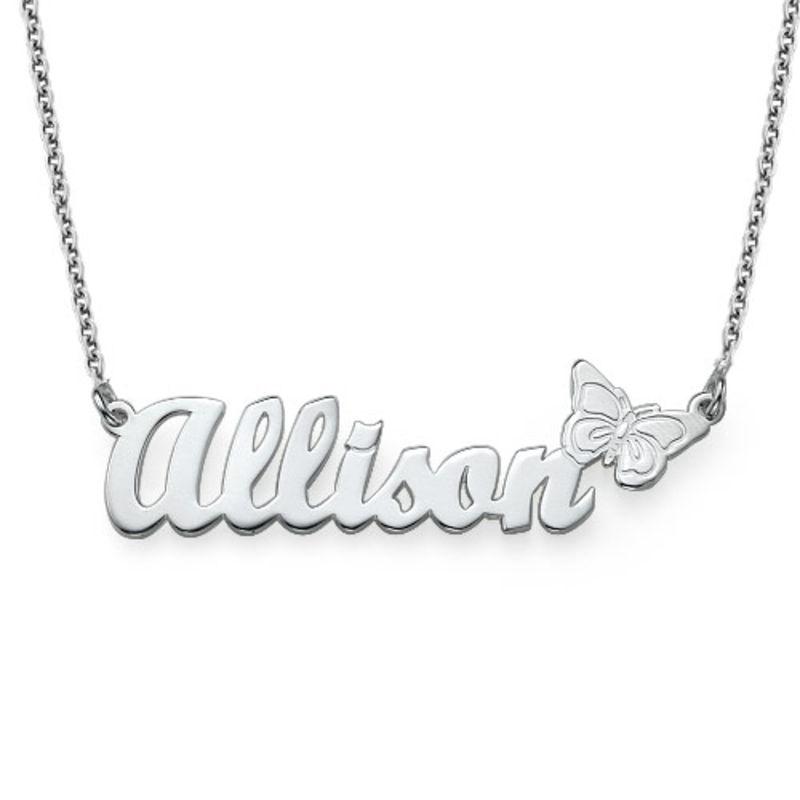 925er silber Namenskette mit Schmetterling