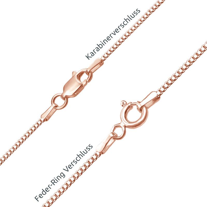 Arabische Namenskette mit Rosévergoldung - 2