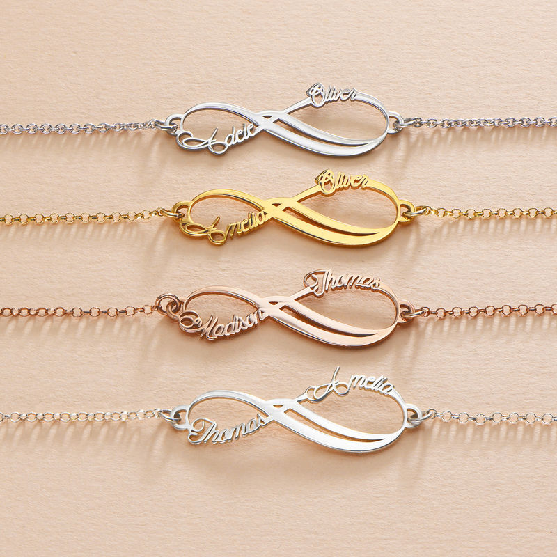 Infinity-Armband mit 2 Namen und Rosé-Vergoldung - 3