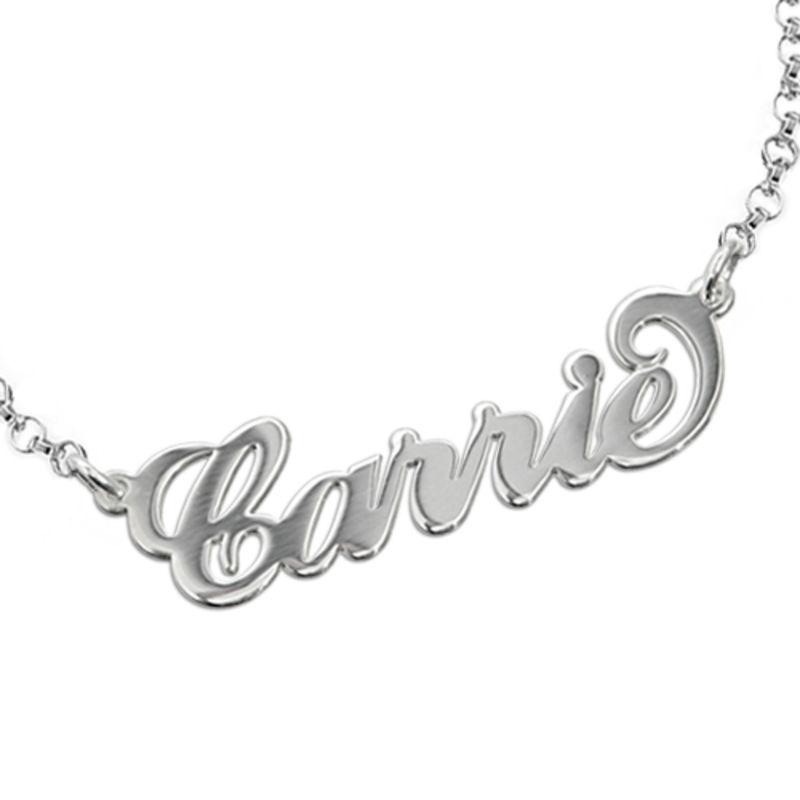 "925 Silber ""Carrie"" Style Namensarmband/Fußband - 1"
