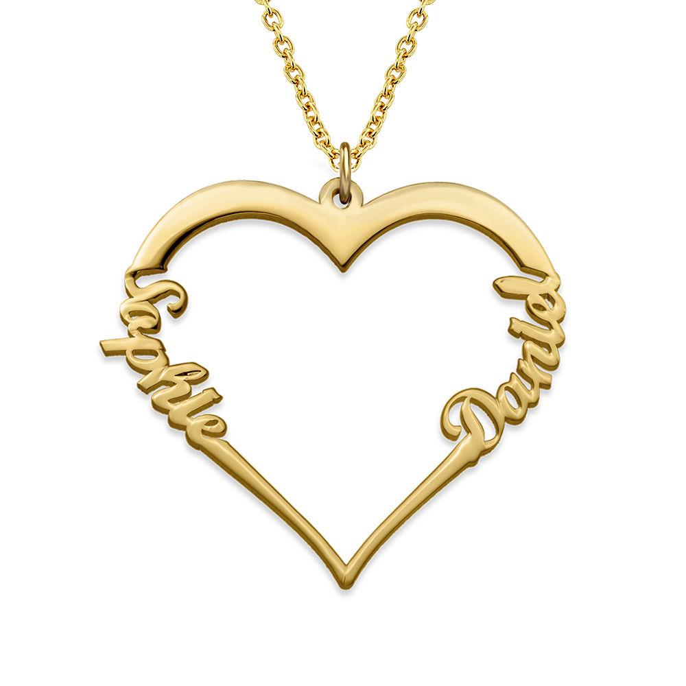 Individualisierbare Herzkette mit Gold Vermeil