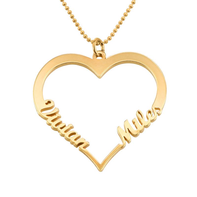 Individualisierbare Herzkette mit Gold Vermeil - 1