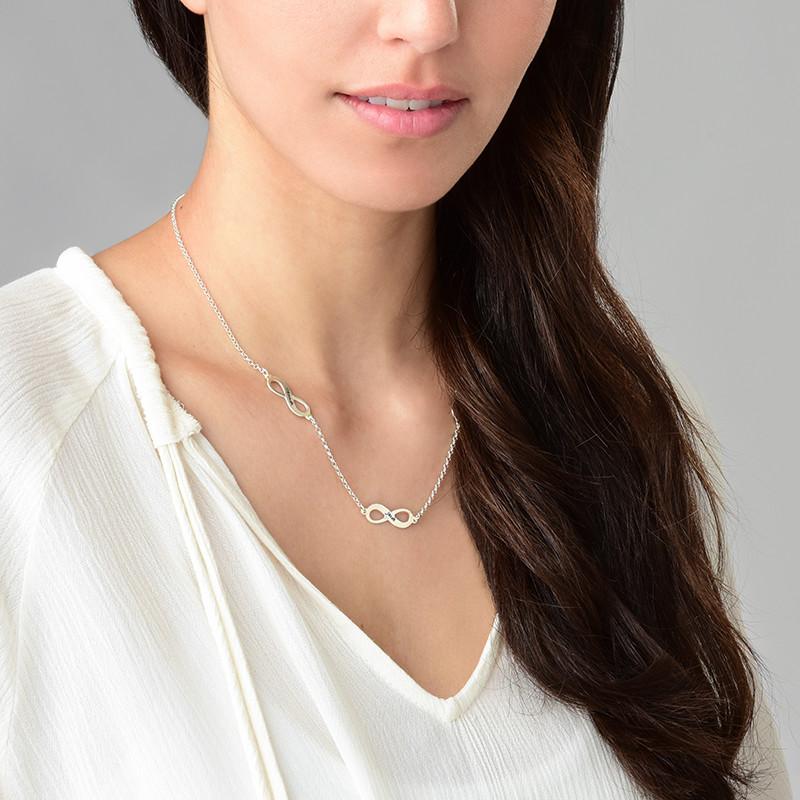Mehrfach-Infinity-Halskette für Mutter in Silber - 2