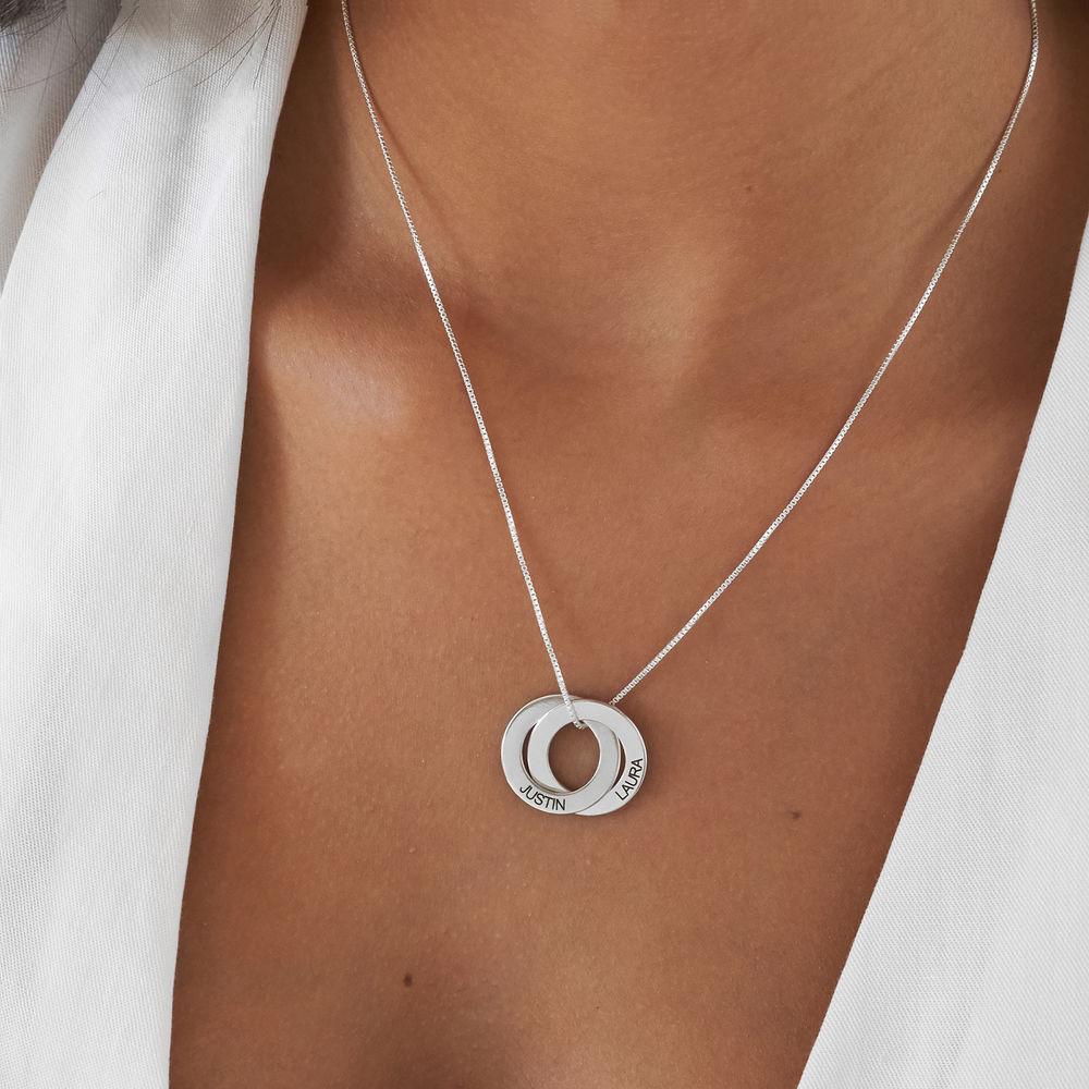 Russische Ring Halskette mit Gravur auf zwei Ringen - 4