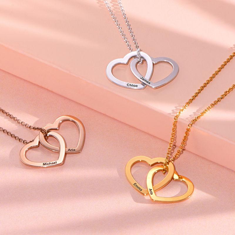 Verschlungene Herzkette mit 750er Rosévergoldung - 2