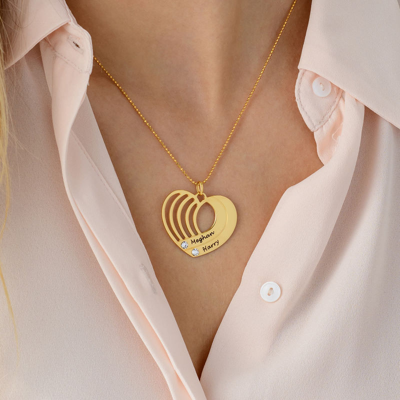 Vergoldete Herzkette mit Gravur - 4