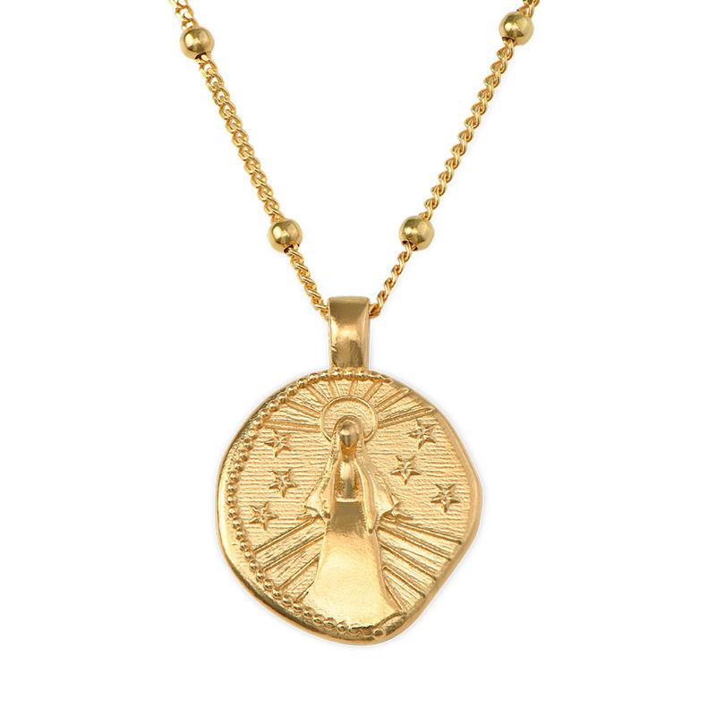 Vergoldete Maria-Münzkette