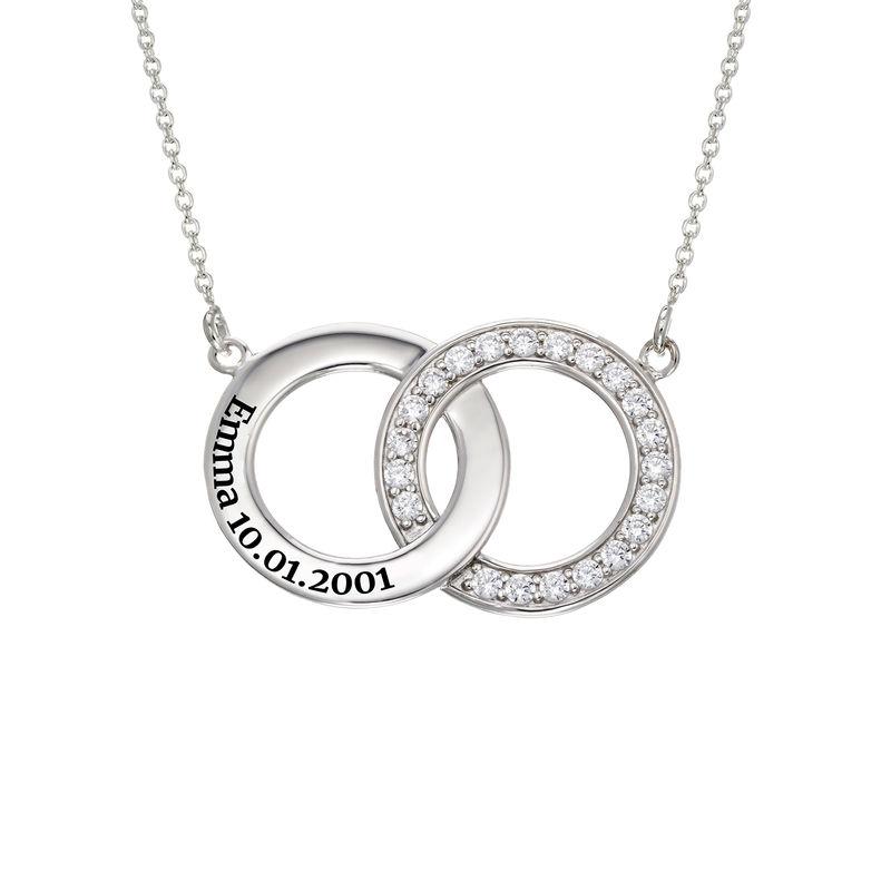 Interlocking Circle Halskette aus Sterlingsilber - 1