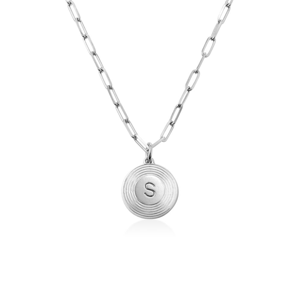 Odeion Initial-Halskette aus Sterlingsilber