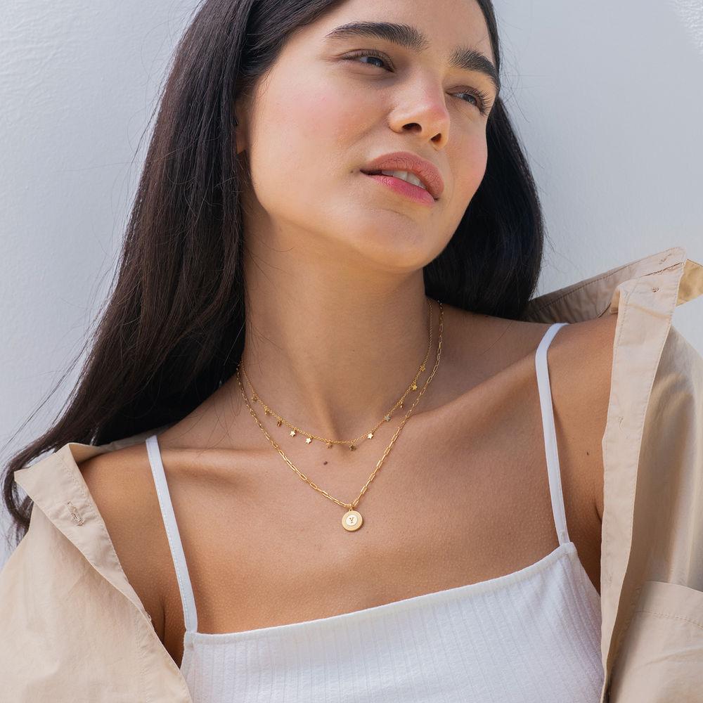 Odeion Initial-Halskette mit Vergoldung - 2