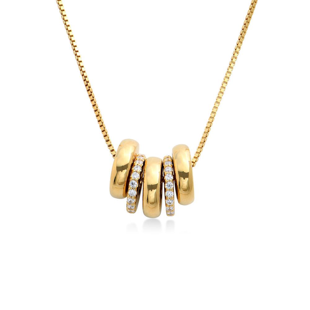 Gravierte Beadkette mit Vergoldung - 1