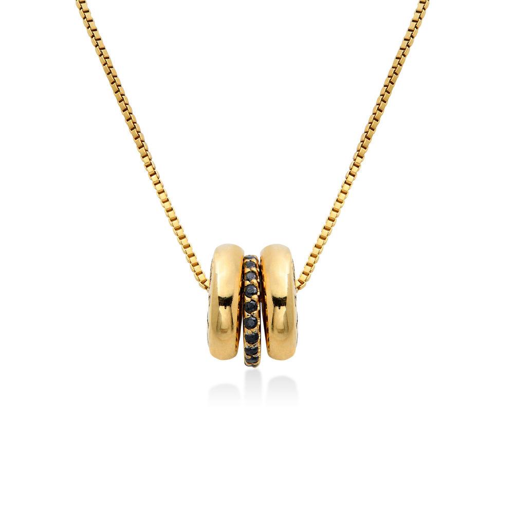 Gravierte Beadkette in Gold-Vermeil - 1