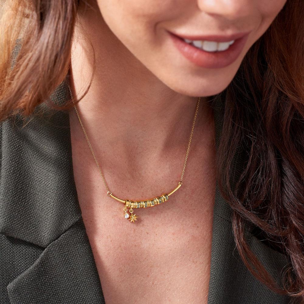 Nordstern Smile-Barrenkette mit personalisierten Perlen aus 750er vergoldetes 925er Silber - 3
