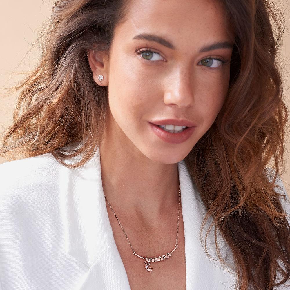 Nordstern Smile-Barrenkette mit personalisierten Perlen aus Rosévergoldetes 925er Sterling Silber - 2