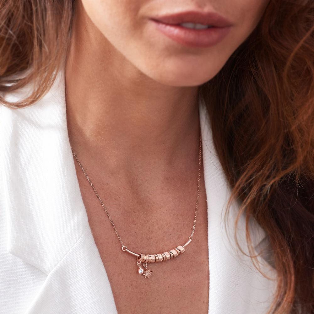 Nordstern Smile-Barrenkette mit personalisierten Perlen aus Rosévergoldetes 925er Sterling Silber - 3