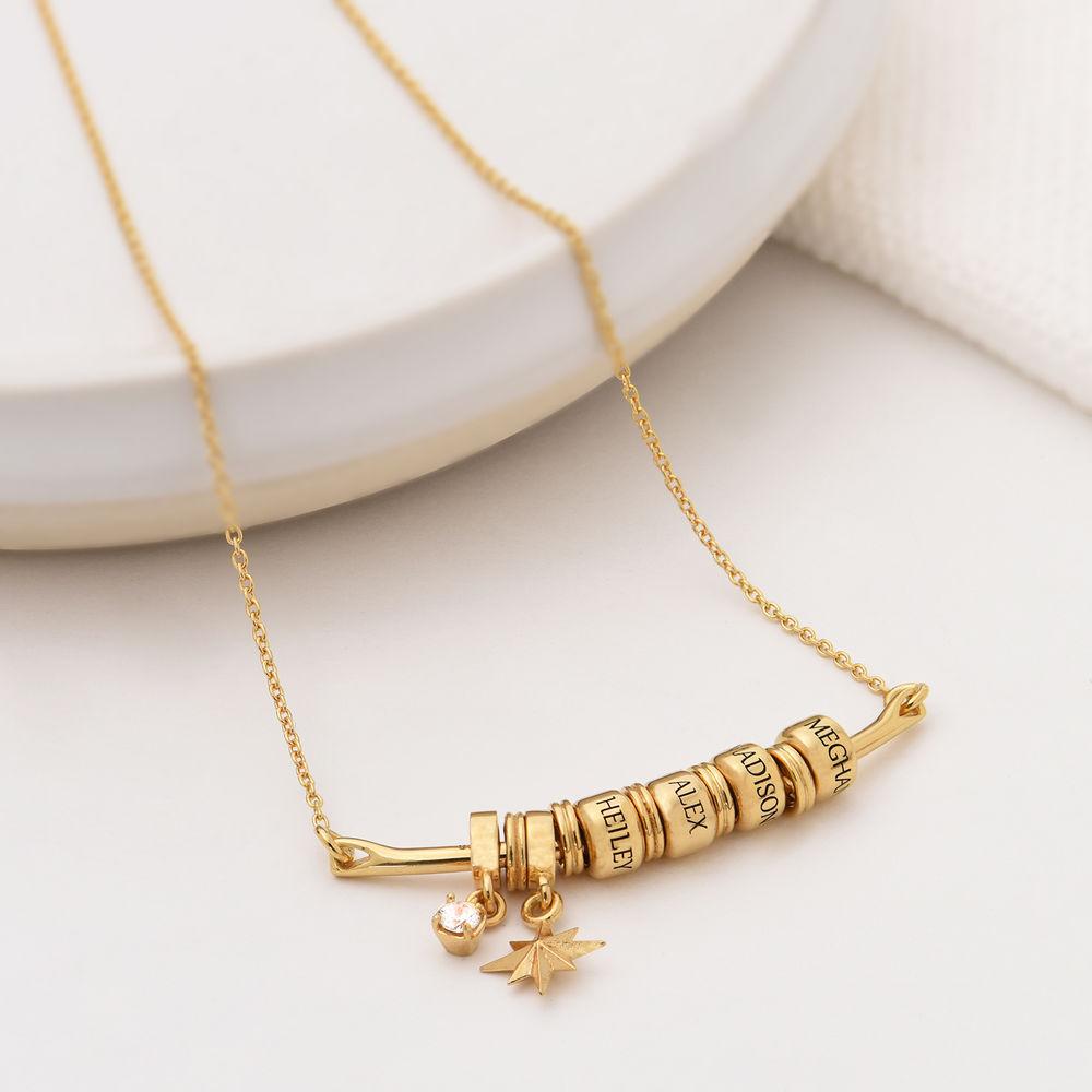 Nordstern Smile-Barrenkette mit personalisierten Perlen aus 750er Gold-Vermeil - 1