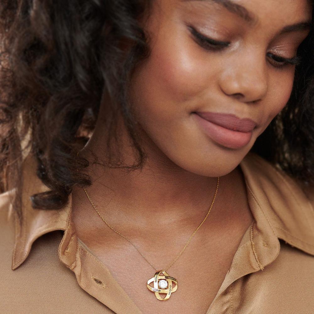 Gravierte Eternal-Halskette mit kubischen Zirkonia in Goldplattierung - 2