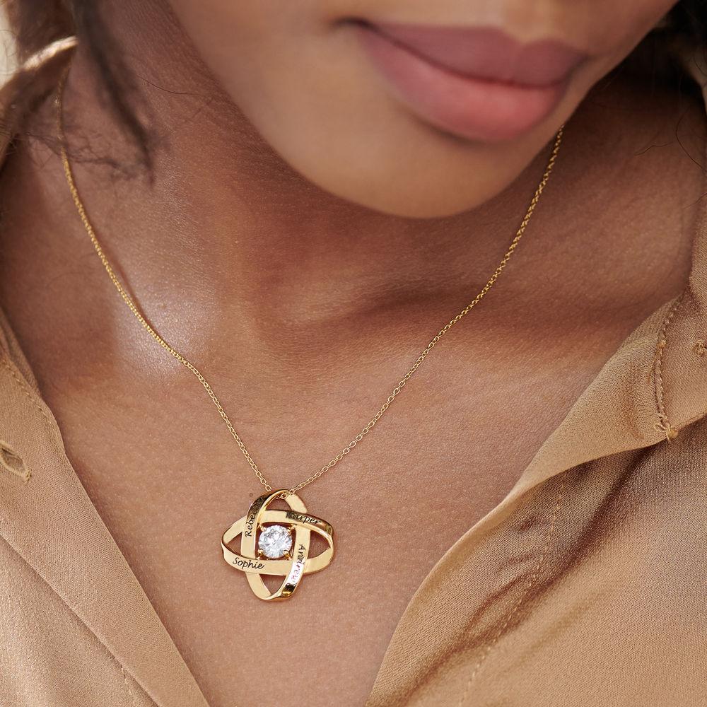Gravierte Eternal-Halskette mit kubischen Zirkonia in Goldplattierung - 3