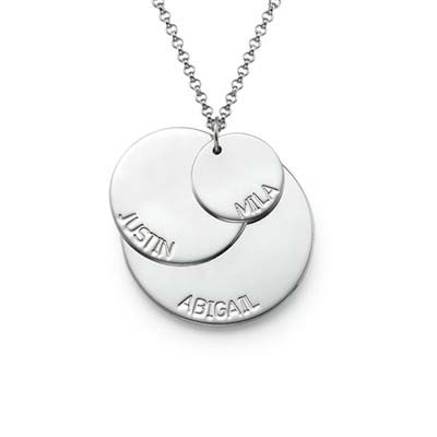 925er Silber Mutterkette mit Kindernamen - 1