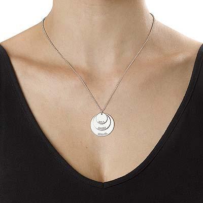 925er Silber Mutterkette mit Kindernamen - 2