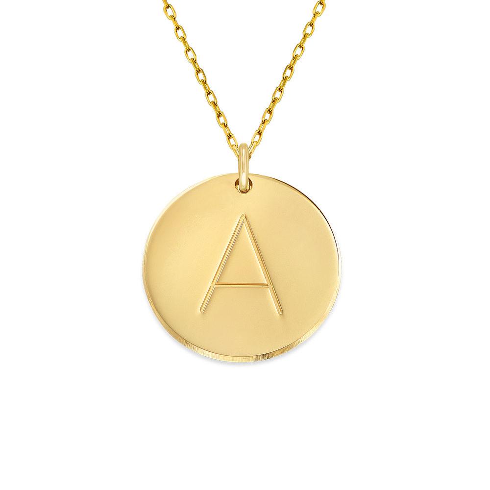 Initialenkette aus 417er Gold